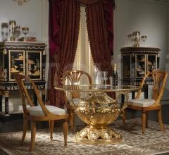 Letto matrimoniale in noce per la collezione Luigi XVI Noce e Intarsi- art. 2011