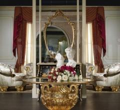 Comodino classico in noce con intarsi della collezione Luigi XVI Noce e Intarsi- art. 2011