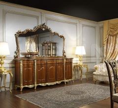 Testata intagliata in noce per il letto in stile Luigi XVI della collezione Noce e Intarsi- art. 2011