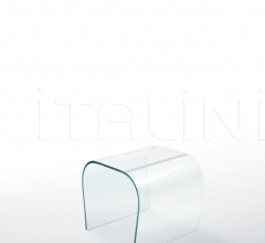 Bent Glass Bench - Bent Glass Stool