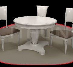 Table and chairs mod. Presient