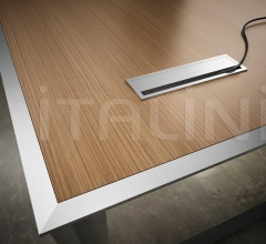45/90 White Leather Meeting Table