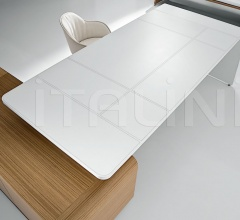 Sestante White Leather Desk