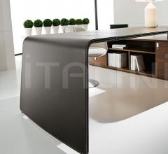 Sestante White Leather Desk