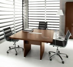 Pratiko Steel Walnut Meeting Table