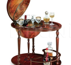 "Trolley globe with drink cabinet and tray ""Giasone"""