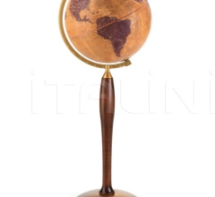 "Floorstanding Gea globe on metal pressed base ""Pisces"""