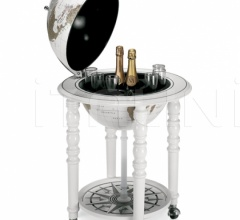 """Elegance"" bar globe on casters - All White"