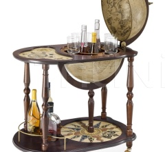 """Venere"" trolley bar globe with serving tray"