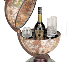 """Sfera 33"" small desk bar globe - Ivory"