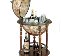 """Incanto"" bar globe on four casters with lower shelf"
