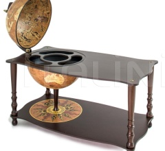 """Botticelli"" coffee table with globe drinks cabinet - Rust"