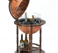 "Beech tree bar globe with storage space inside ""Giunone"" - Classic"