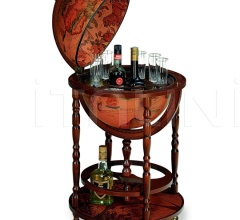 "Elegant bar globe with wheels ""Minerva"" - Classic"