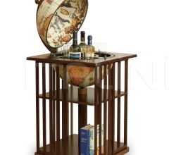 "Bar globe with bookshelf ""Dafne"" - Safari"
