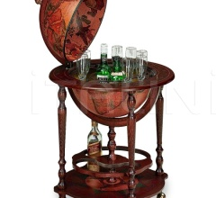 "Bar globe with bottle storage on casters ""Minosse"""