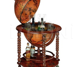 "Spiral leg bar globe with large drinks cabinet ""Bacco"""