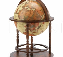 "Vintage bar globe with wide lower shelf ""Calipso"" - Safari"