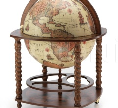 "Large bar globe with spiral legs and wheels ""Caronte"" - Safari"