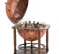 "Large bar globe with spiral legs and wheels ""Caronte"""