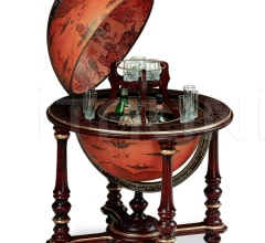 "Charming large bar globe with golden decorations ""Afrodite"""
