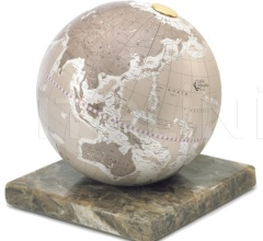 """Stone"" desk globe on marble base - Warm Grey"