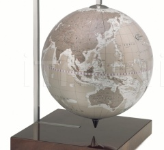 """Quadra"" desk globe on burl base - Warm Grey"