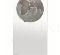 """Aria"" floorstanding globe on plexiglass frame - Warm Grey"
