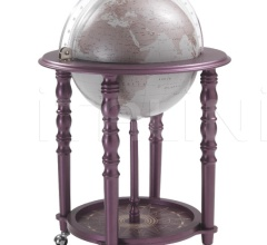 """Elegance"" bar globe on casters - Purple/Warm Grey"