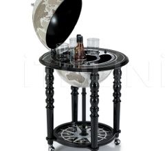 """Elegance"" bar globe on casters - Black/Warm Grey"
