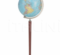 """Vasco da Gama"" floorstanding globe - Light Blue Political"