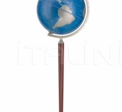 """Vasco da Gama"" floorstanding globe - Metallic Blue"