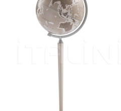 """Vasco da Gama"" floorstanding globe - Warm Grey"