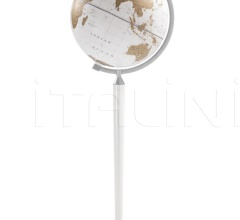 """Vasco da Gama"" floorstanding globe - All White"