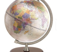 """James Cook"" educational desk globe - Pink Political"