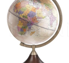 """Coronelli"" educational desk globe with wooden base - Pink Political"