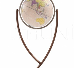 """Colombo 50"" contemporary design floorstanding globe - Pink Political"