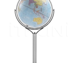 """Magellano 50"" political floorstanding globe - Light Blue Political"