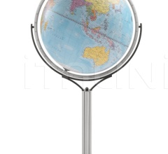 """Magellano 60"" political floorstanding globe - Light Blue Political"