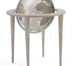 """Amerigo Vespucci"" contemporary style floorstanding globe - Greige"