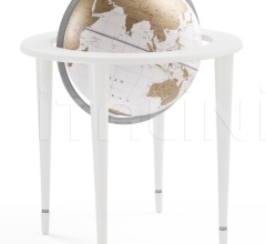 """Amerigo Vespucci"" contemporary style floorstanding globe - All White"
