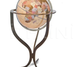 """Flute"" floorstanding contemporary globe with corten steel finishing"