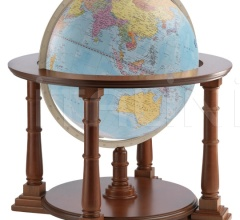 """Mercatore 60"" floorstanding globe on wooden base - Light Blue Political"