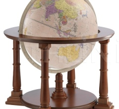 """Mercatore 60"" floorstanding globe on wooden base - Pink Political"