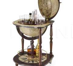 """Saturno"" corner floor globe bar"