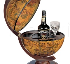"""Sfera 33"" small desk bar globe - Ebony"