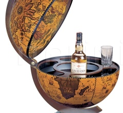 """Sfera 42"" desk bar globe - Ebony"