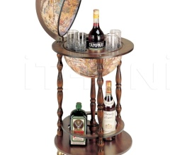"""Allegro"" small floor bar globe on wheel"