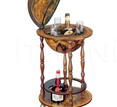"""Ottante"" small floor bar globe on wheel"