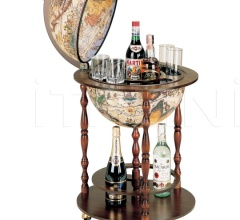 """Vanesio"" floor globe bar on three casters"